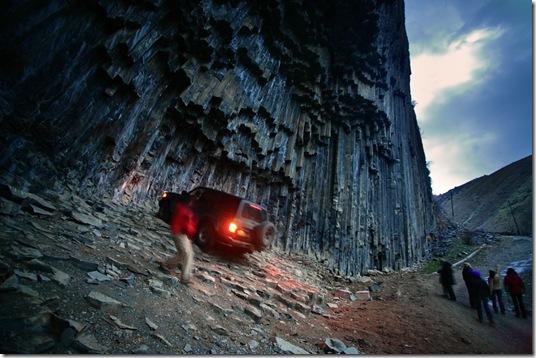 """Organ pipe"" rocks in Garni canyon"