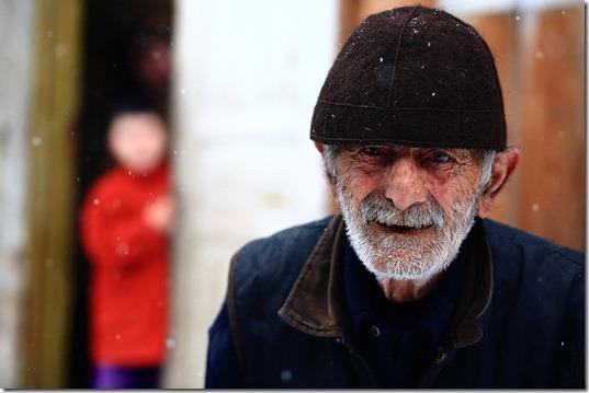 Sandro Gulbani, 82, an elder of Ipari village.