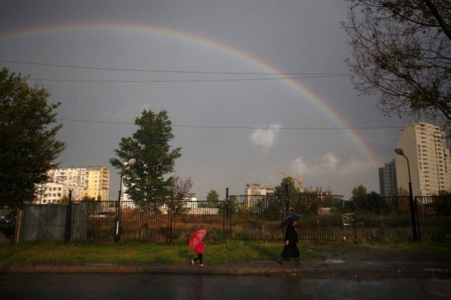 A rainbow in Tbilisi. October 24, 2012
